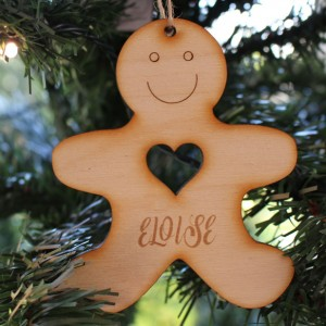 Christmas Decoration Gingerbread Man Heart2