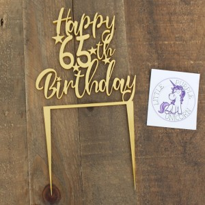 Cake Topper - Birthday