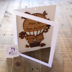 Hot Air Balloon Wooden Plaque